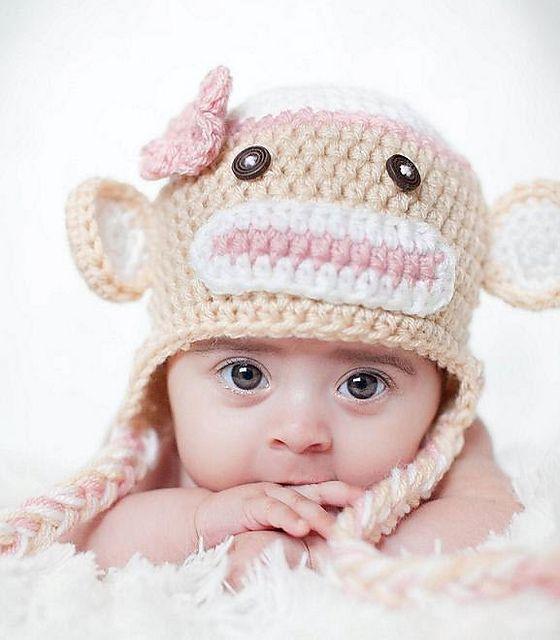 Sock monkey hat pattern by Olesya Pronyaeva | Monkey hat, Monkey and ...