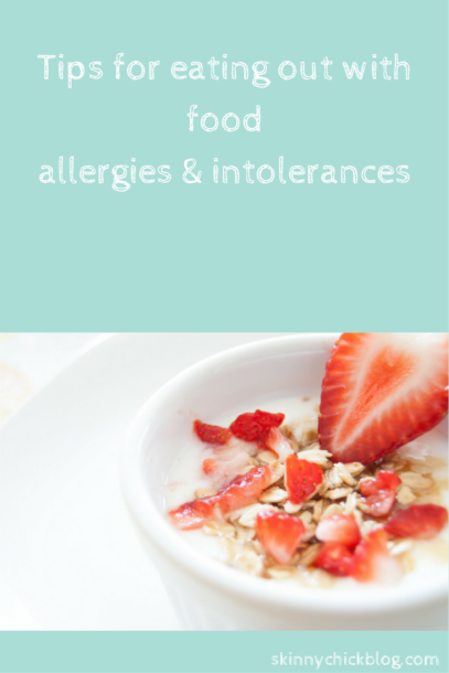 Tips for eating out with food allergies