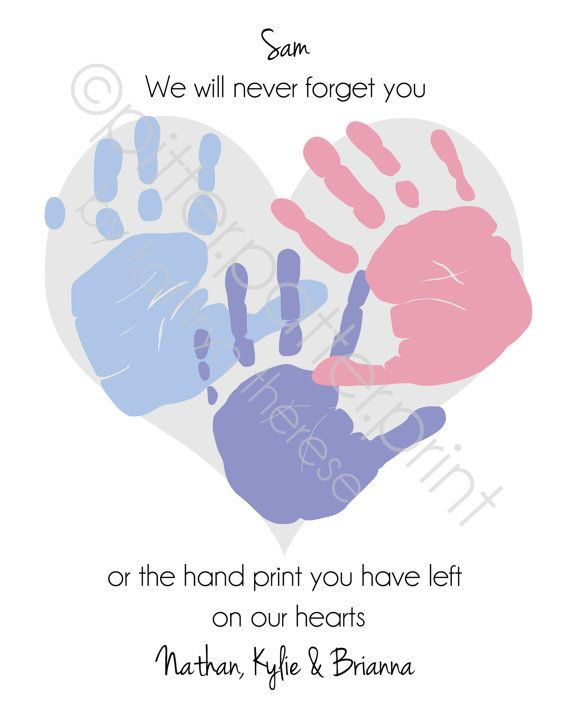 Gift for teacher nanny daycare babysitter handprint heart gift for teacher nanny daycare babysitter by pitterpatterprint negle Images