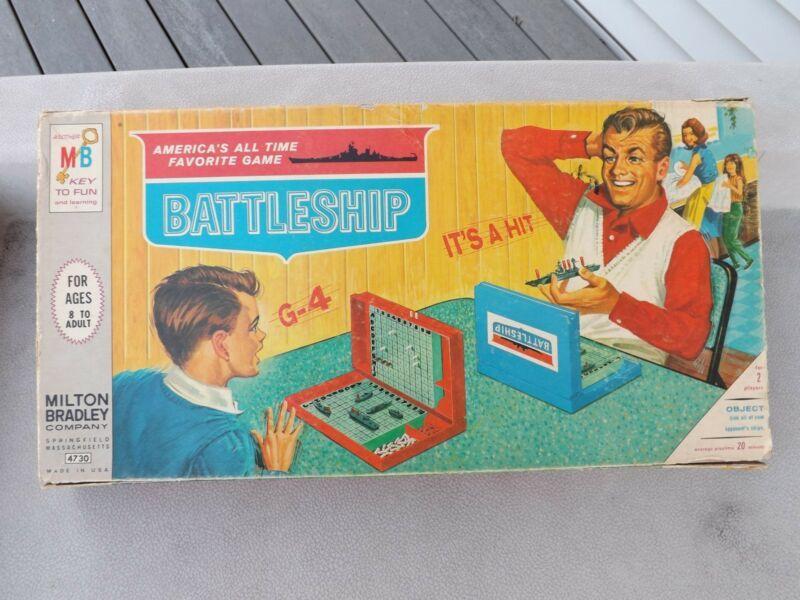 Vintage 1960 S Battleship Board Game By Milton Bradley Battleship Game Vintage Board Games Games