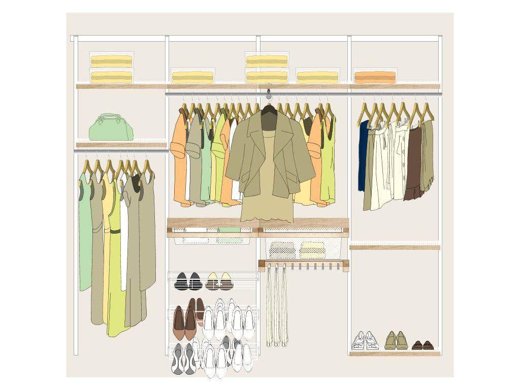 Elfa Closet System Closets Dressing Rooms Pinterest