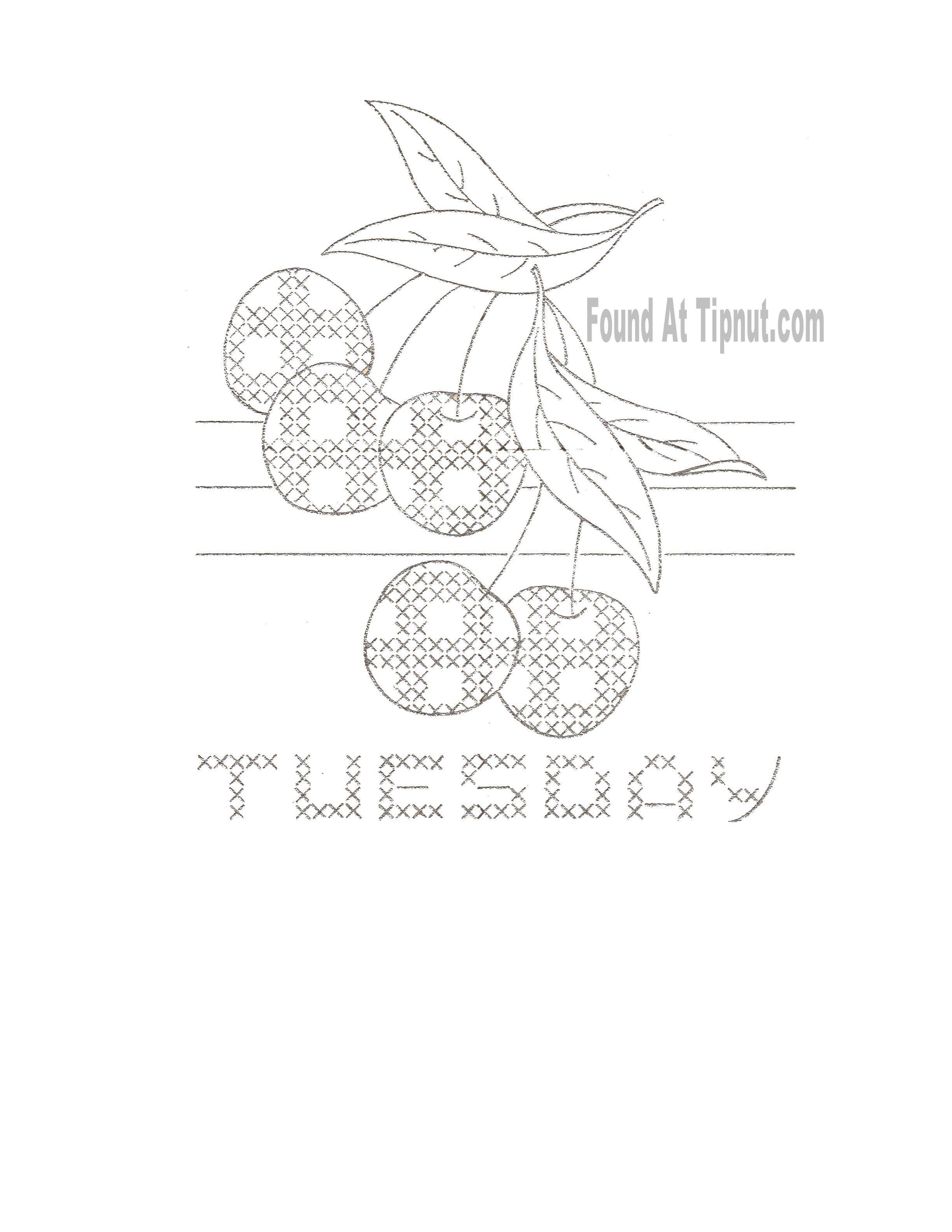 Gingham Fruit Cross Stitch & Embroidery Set: {Vintage