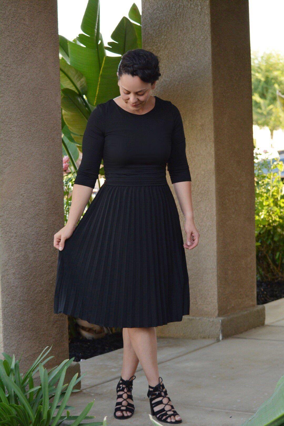 Marseille Black Dress Fashion Holiday Outfits Women Black Funeral Dress [ 1620 x 1080 Pixel ]