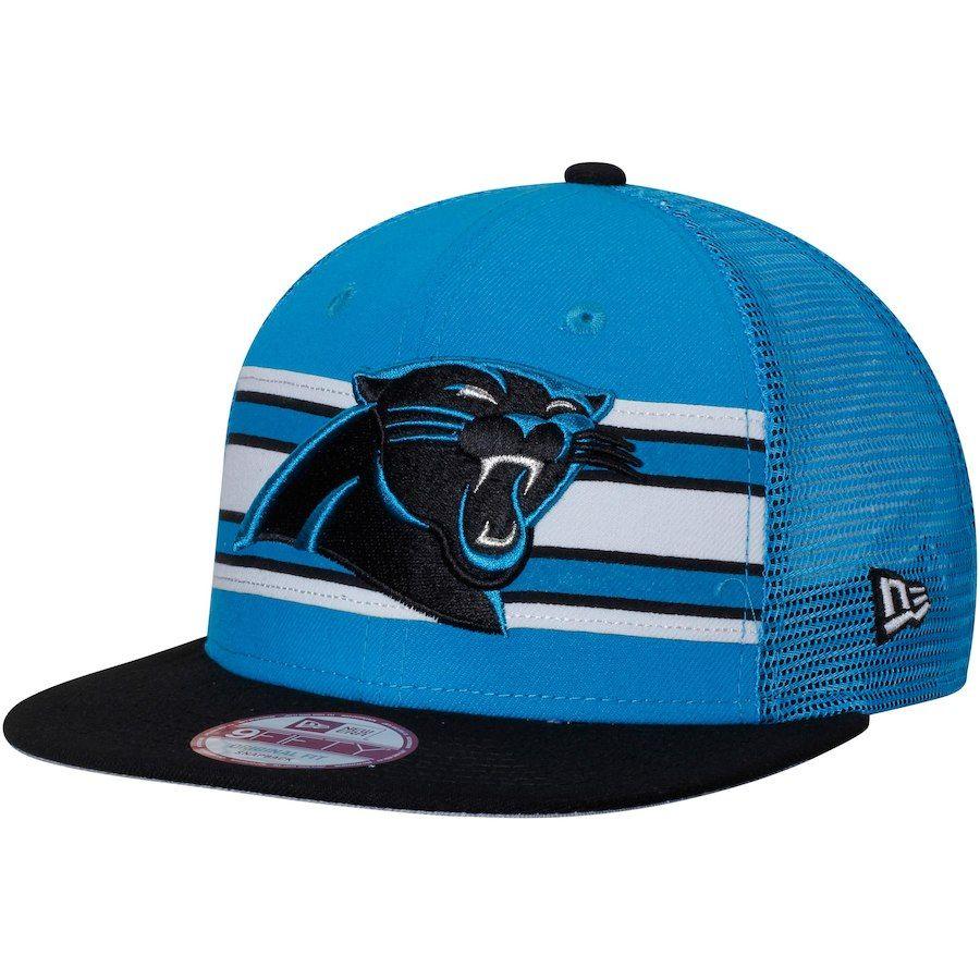0b5716f61be4ab Men's Carolina Panthers New Era Blue/Black Throwback Stripe Original Fit 9FIFTY  Snapback Adjustable Hat