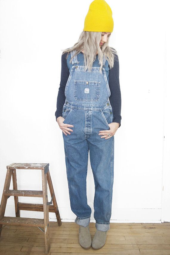 ba5d5aee3db Vintage Pointer Brand Overalls - Denim Bib Overalls - Size 30 - Women s  Size Medium