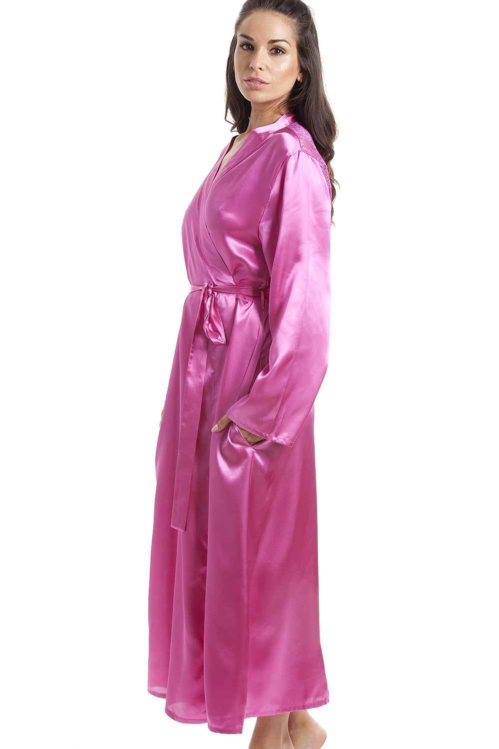 f2757956afca Camille Womens Pink Luxury Satin Dressing Gown | Antiques in 2019 ...