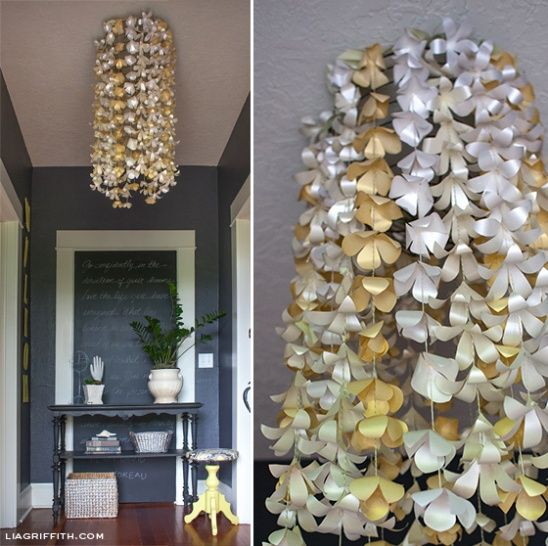 Diy paper flower chandelier by lia griffith pinterest flower diy paper flower chandelier by lia griffith project home decor decorative kollabora mozeypictures Image collections