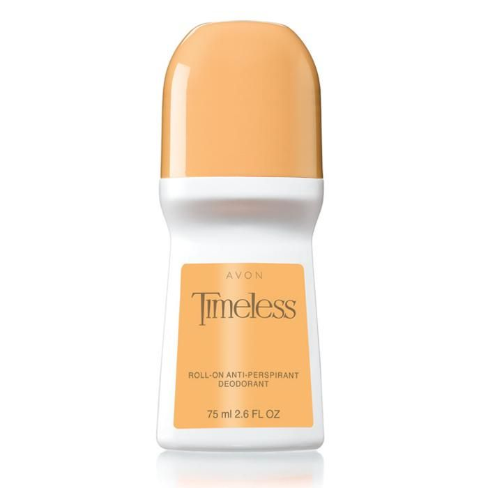 Keeps you feeling dry and smelling fresh throughout your busy day. Glides on smoothly for long-lasting odor protection with the classic, elegant scent of Timeless. Also reduces underarm wetness. Non-sticky, non-whitening, quick-drying, anti-stain formula. 2.6 fl. oz.TO USE: Apply to underarms only.
