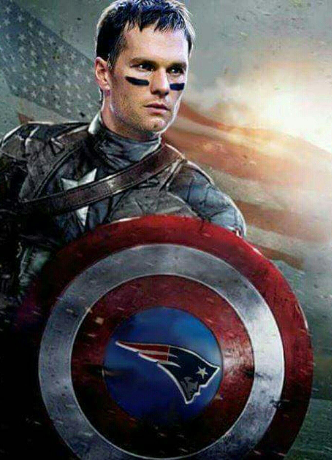 Tom Brady Captain America Patriots Captain America Pinterest