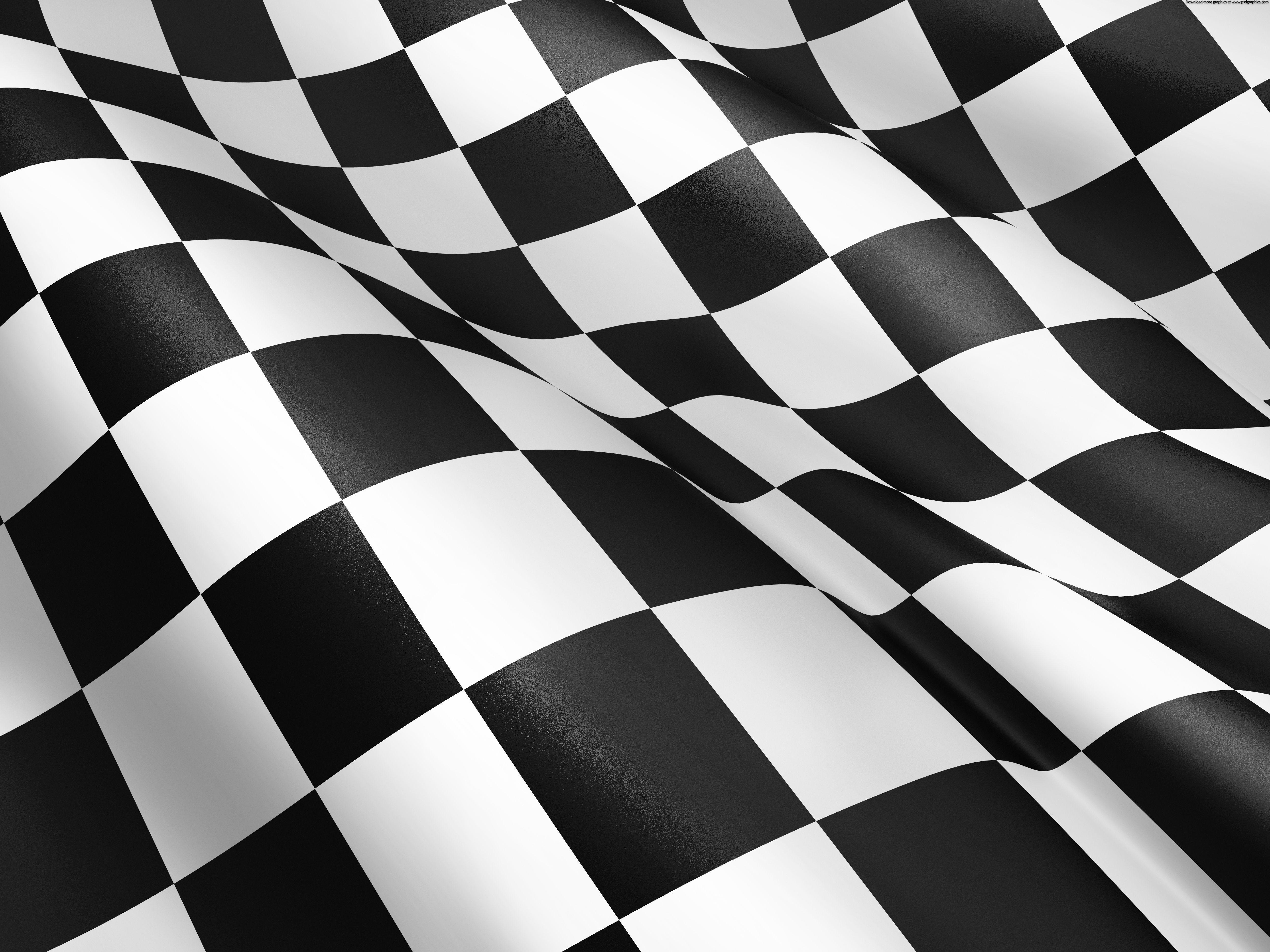 Waving Checkered Flag Background Bandeira Quadriculada Papel De