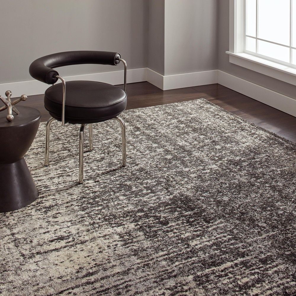 Safavieh Retro Modern Abstract Black And Light Grey Rug 8 X