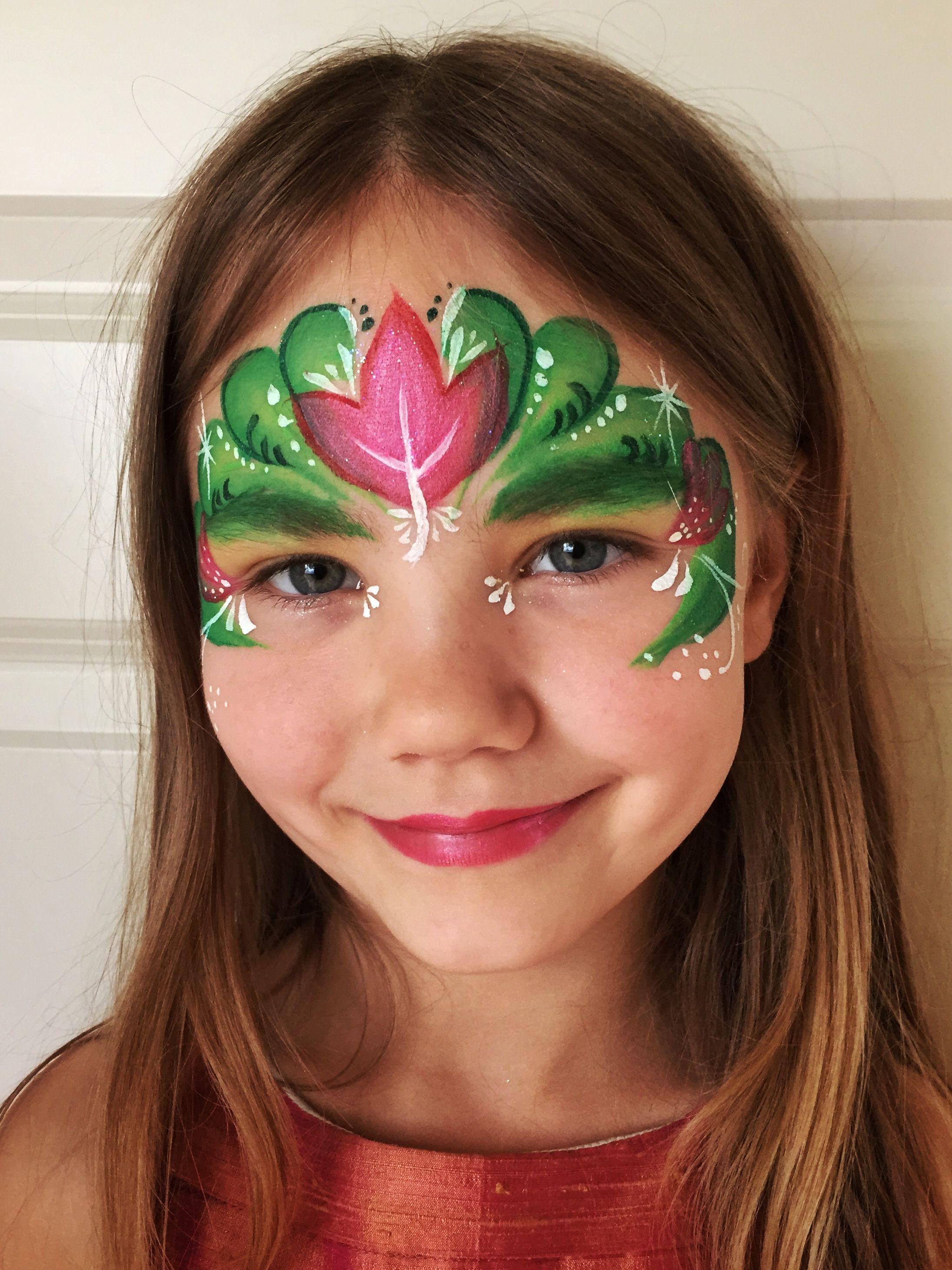 Anna from Frozen #facepaint #anna #frozen #flowers ...