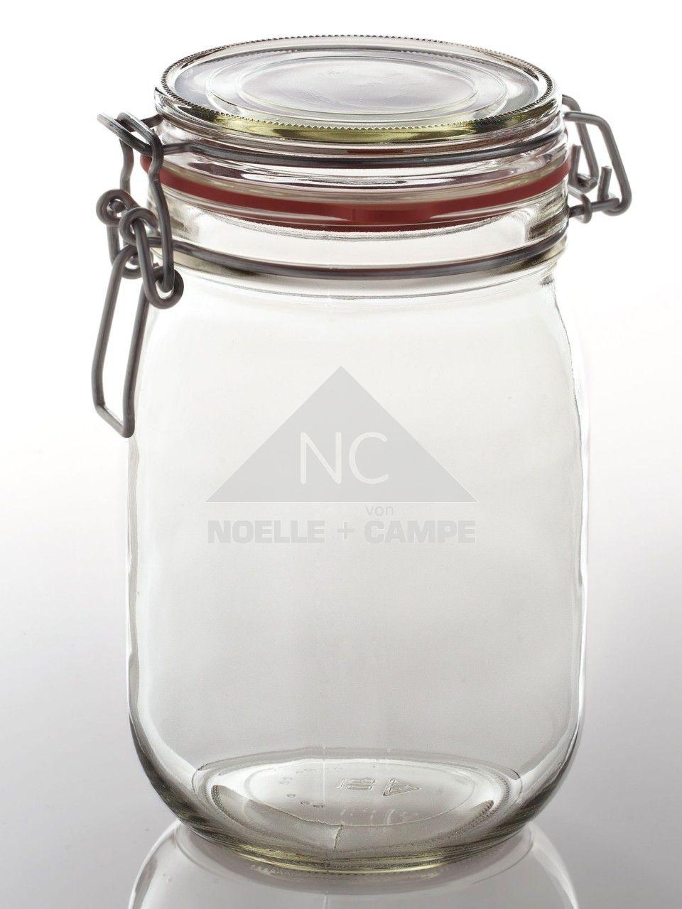 Einmachglas mit Drahtbügel 1140 ml | Drahtbügel, Einmachgläser und ...