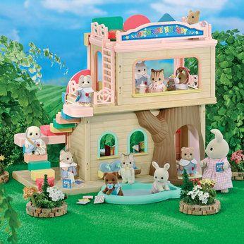 Sylvanian families primrose nursery toys calico critters miniaturas juguetes japoneses - Casitas de tela para ninos toysrus ...