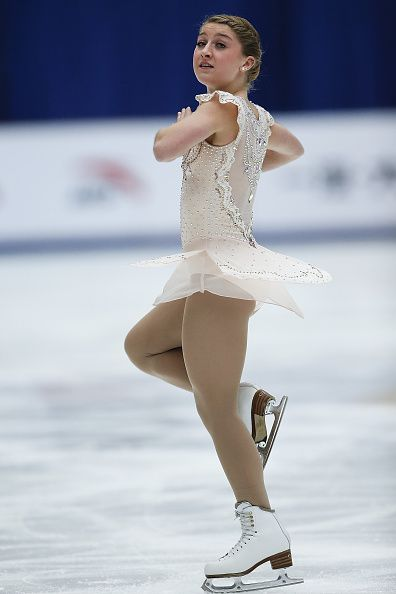 Miller Hannah of United States competes in the Ladies Short Program on day two of Audi Cup of China ISU Grand Prix of Figure Skating 2015 at Beijing...