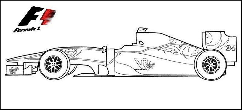 Colouring F1 Car Images