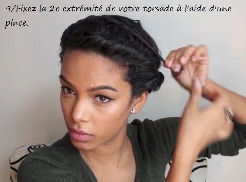 Tutoriel en images Couronne/Auréole torsadée sur cheveux
