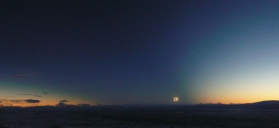 Impossible eclipse at the end of the world - in pictures Patagonien