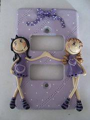 espelho de luz 2 meninas