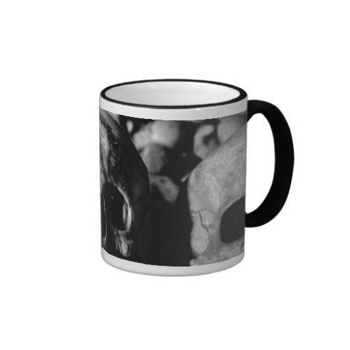 Human Skull Collection Ringer Mug