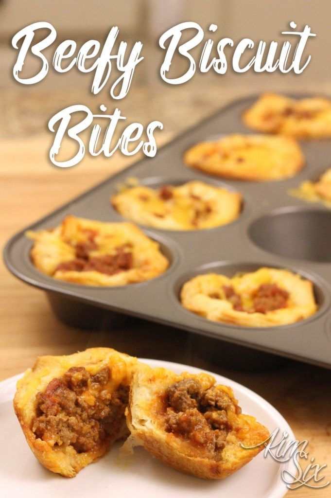 Beefy Biscuit Bites From Refrigerated Biscuit Dough Recipe Easy Meat Recipes Easy Homemade Recipes Food