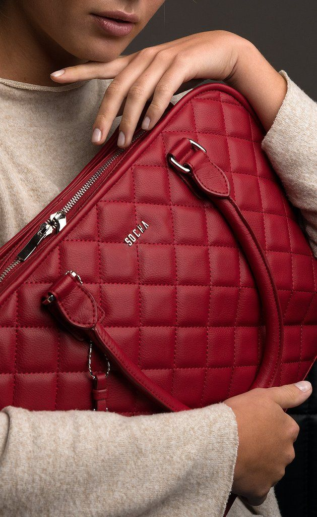 Socha Ella Quilted Laptop Tote 11-13.3  Dark Cherry – Laptopbags ... : quilted laptop tote - Adamdwight.com