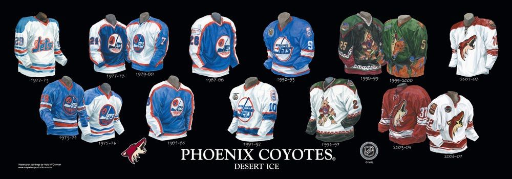 Winnipeg Jets Phoenix Arizona Coyotes uniform history | NHL