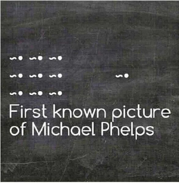 Phelps - fastest swimmer from the very start!