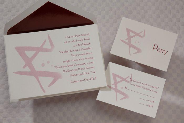 bar bat mitzvah invitations by invitations for less crafts