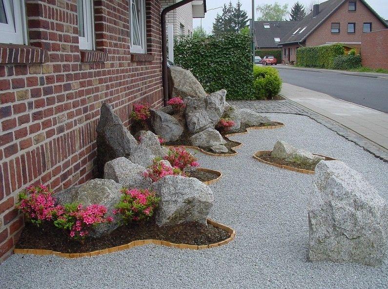 Sehr schöne Idee für schmale Vorgärten zur Straße hin. Vorgarten von ...
