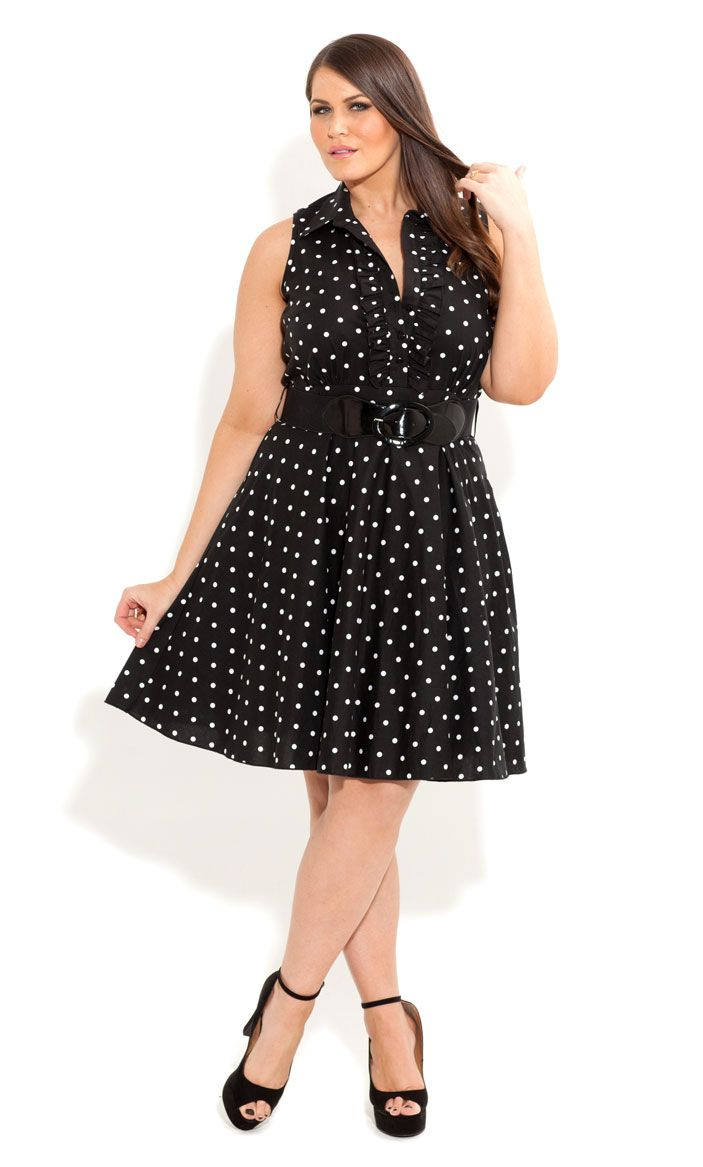 Yours Clothing Women/'s Plus Size Size Up Navy Polka Dot Swing Top