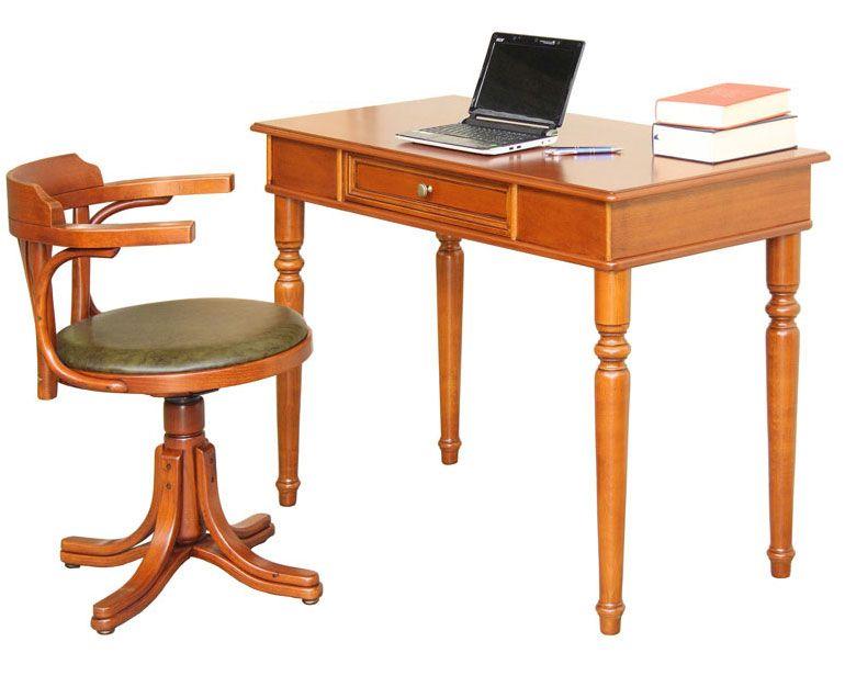 Scrittoio in stile + sedia girevole vera pelle Artigiani