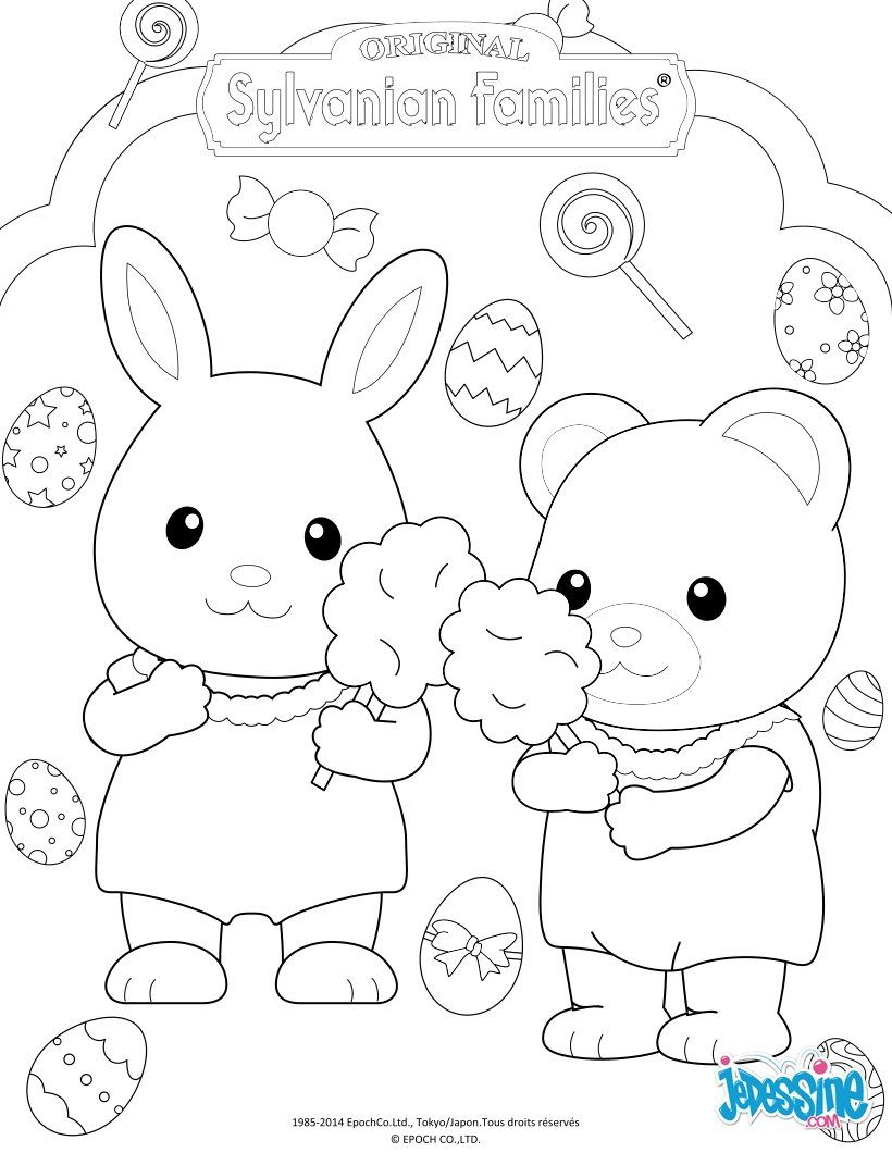 The Sylvanian Families Celebrate Easter coloring page More | Love it ...