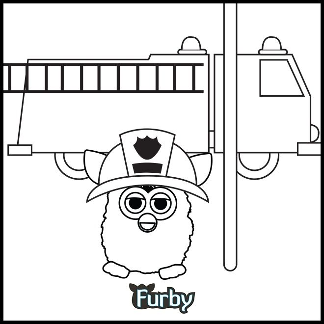 Furby Coloring Pages Emergency Furby Needs Coloring Furby