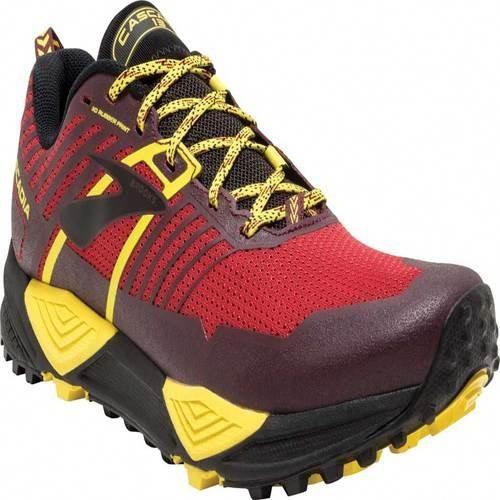 25d9a5c9bb1 Brooks Men's Cascadia 13 Trail Running Shoe, Red/Yellow/Black ...