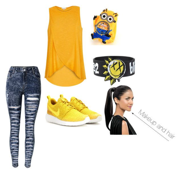"""""""Yellow Sunlight"""" by aliyahlea ❤ liked on Polyvore featuring River Island and NIKE"""