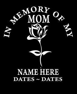 Loving Memory Decal Mom Rose Customstickershopusproduct - Window decals in memory of