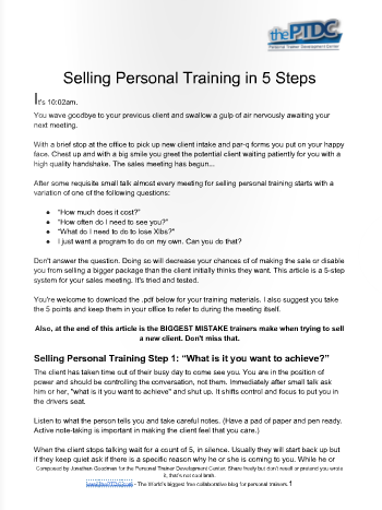 Printable Forms For Personal Trainers That You Can Download And