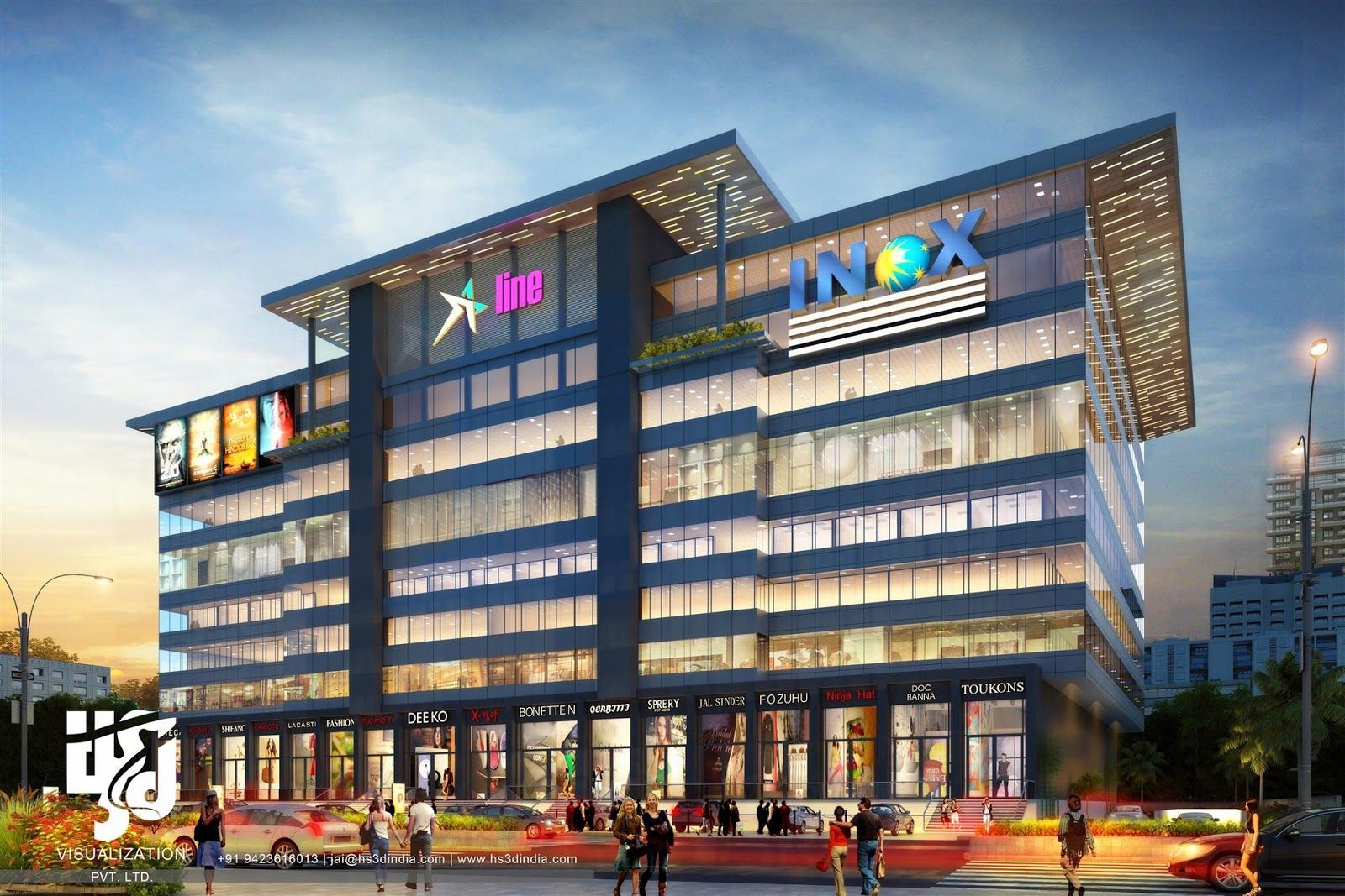 Pin By Hs 3d Visualization Pvt Ltd On Shopping Mall Exterior Design With Images Commercial Design Exterior Facade Design Facade Architecture