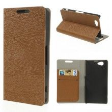Funda Sony Xperia Z1 Compact Book Wood Wallet Marron  $ 132,00