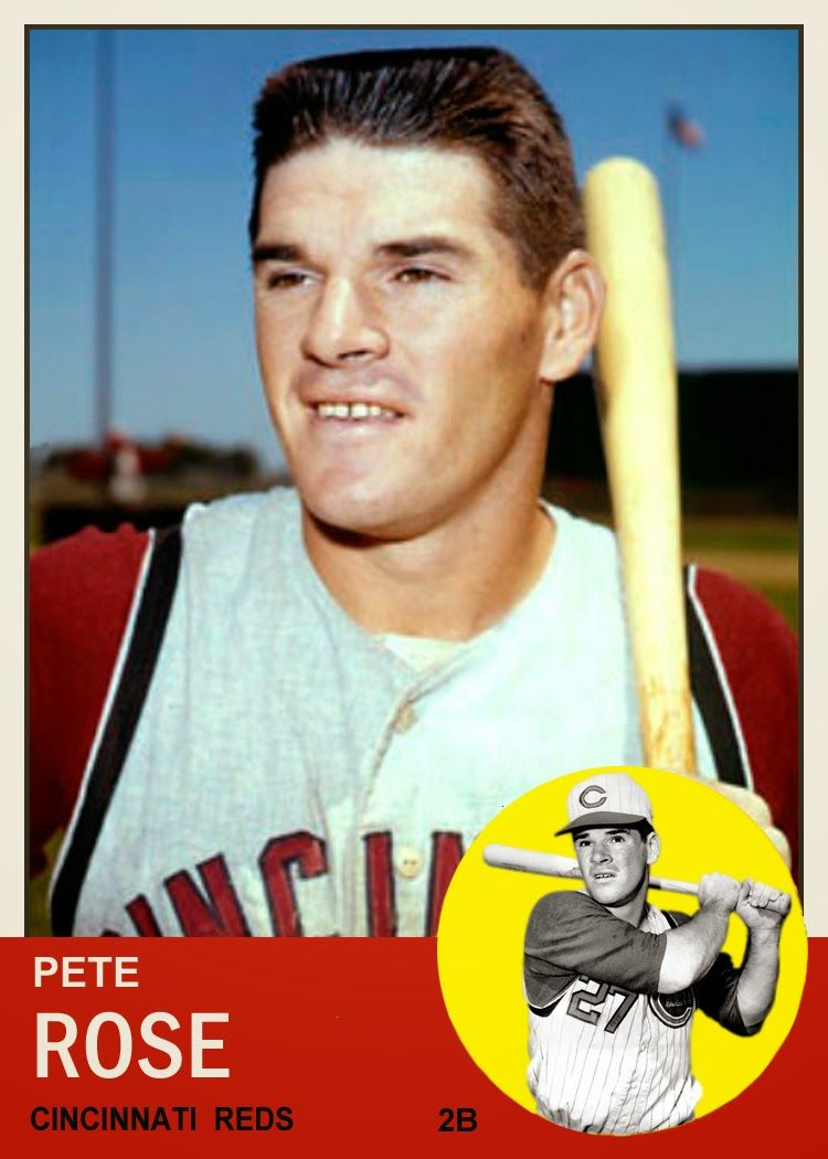 1963 Topps Pete Rose By Bob Lemke Card That Never Was