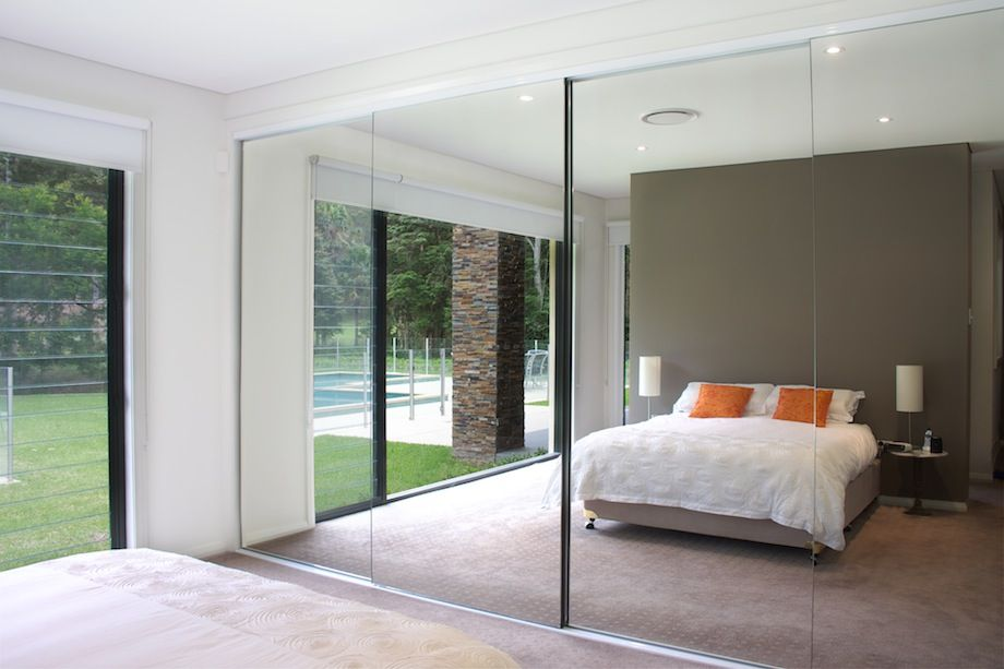 semi frameless mirror doors bedroom wardrobe concealed ensuite entrance pinterest mirrored. Black Bedroom Furniture Sets. Home Design Ideas