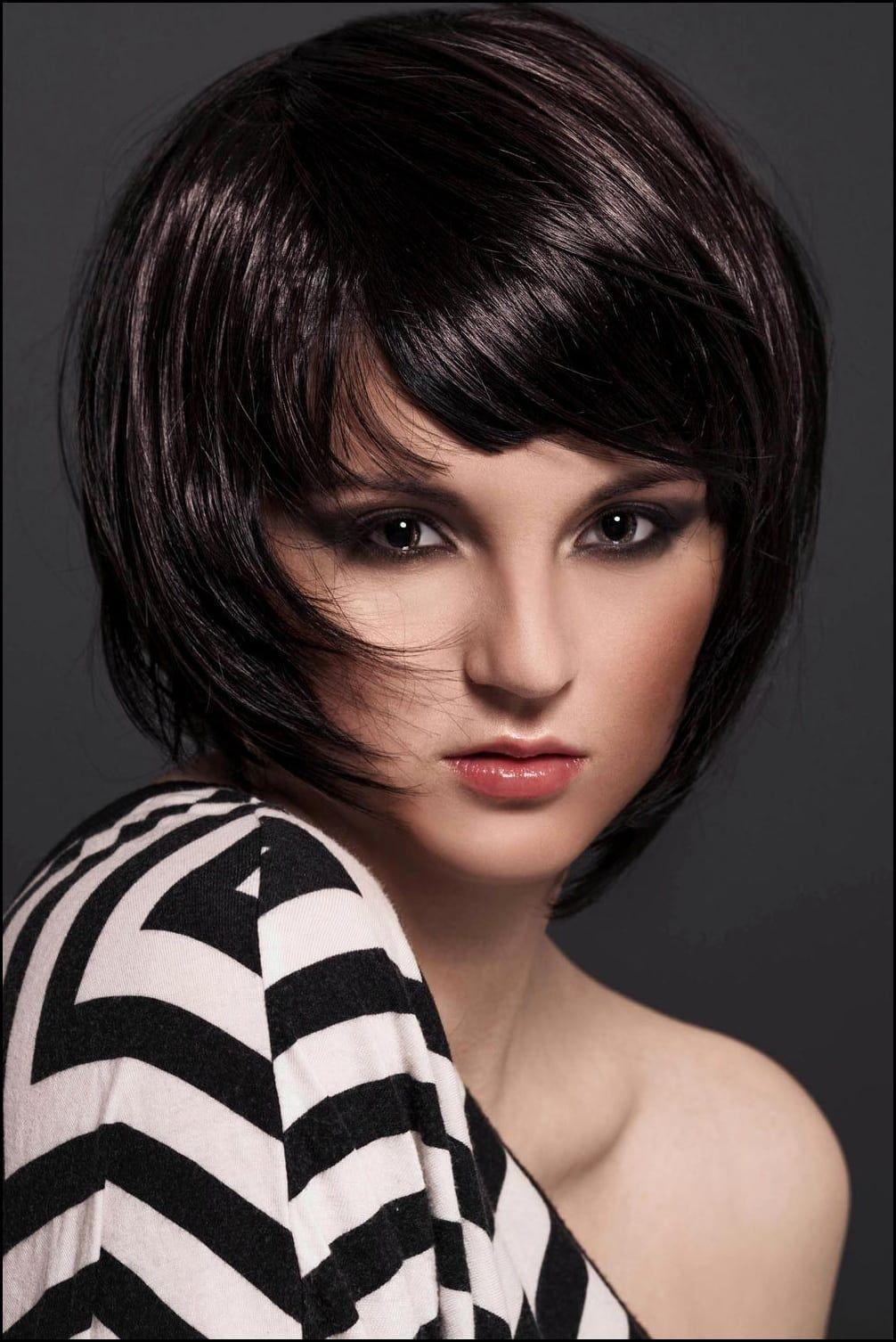 Angle Cut Hairstyle Womens Hairstyles Medium Short Short Hair