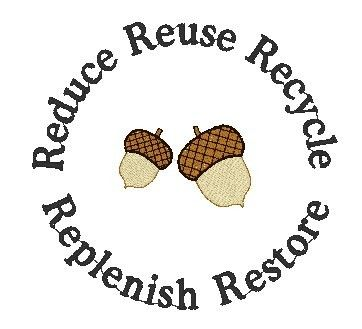 Reduce ReUse Recycle Replenish Restore and Earth Day by juliasew, $3.00