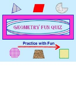 geometry powerpoint fun quiz geometry pinterest geometry