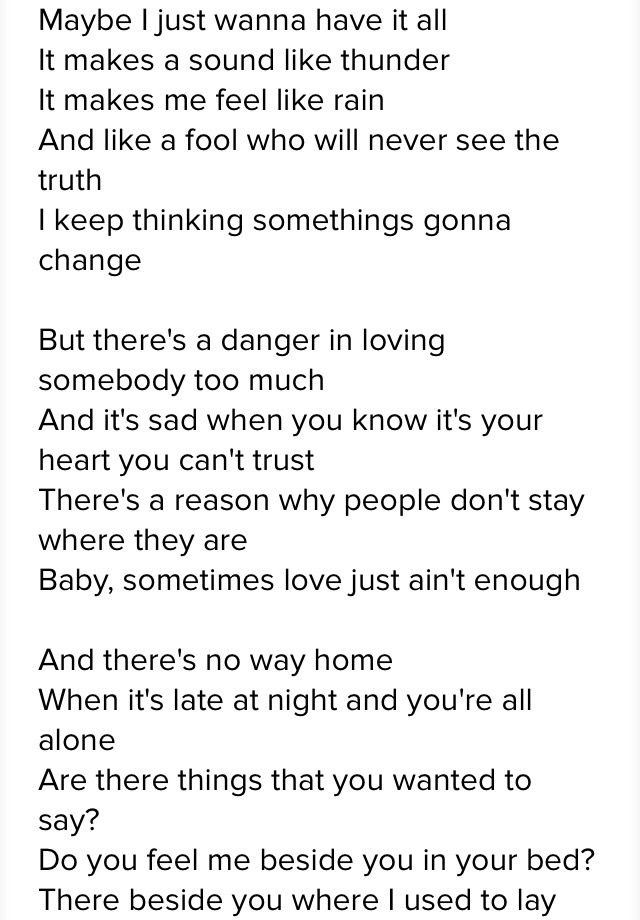 Lyric alison krauss living prayer lyrics : Sometimes Love Ain't Enough - Patti Smyth ft. Don Henley | Dude ...