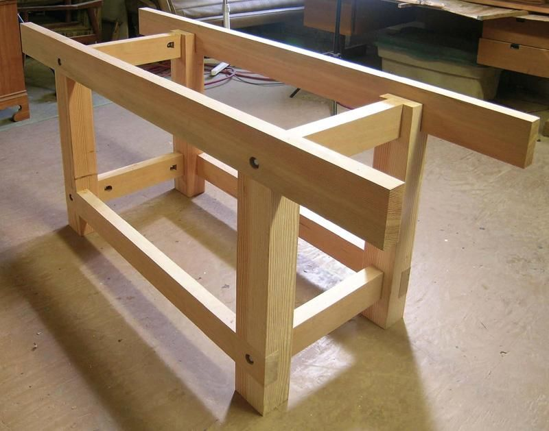Streamlined Workbench Woodworking Bench Plans Workbench Plan Woodworking Workbench