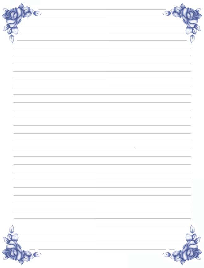 roseblujpg (660×865) letters Pinterest Stationary, Writing - lined paper with drawing box