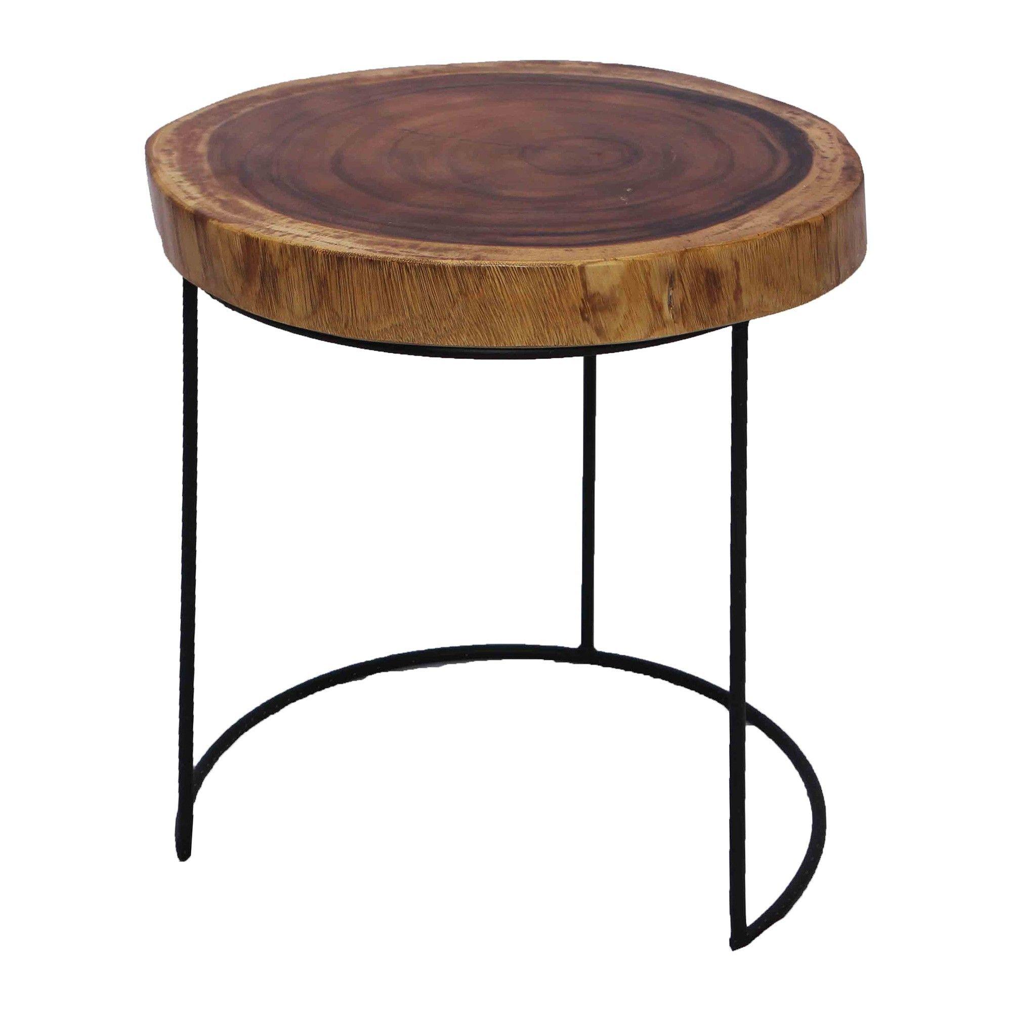 Palsina Suar Wood Iron Side Table Table Metal Side Table Wood