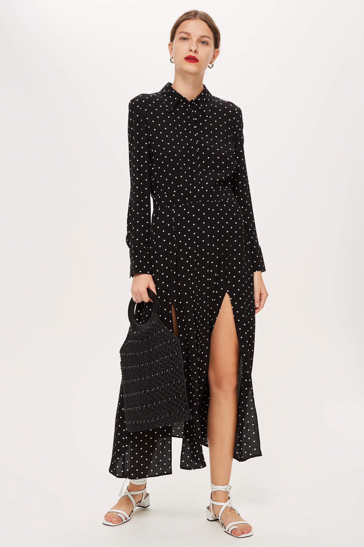 4f547abd1c Spot Pleat Shirt Dress | My Style | Midi shirt dress, Pleated shirt ...